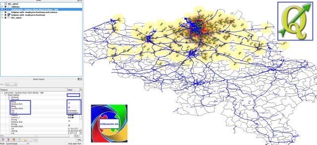 QGIS - Belgium - Mobility Scan