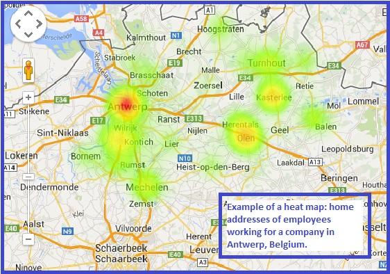 IctDynamic - heatmap Antwerpen