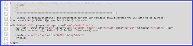 AEM CQ5 AngularJS HTML